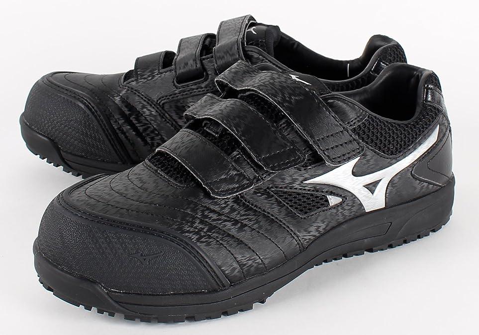 ビデオ確立掃除[ミズノ] 安全靴 オールマイティ FF 軽量 幅広 ベルト JSAA?普通作業用(A種)