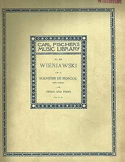 Souvenir De Moscou - Henryk Wieniawski - Carl Fischer - Violin, Piano - Violin with Piano - L308