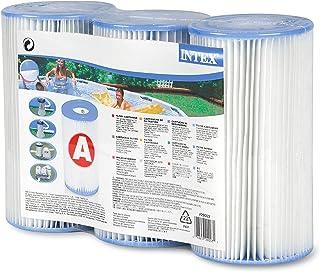 Intex - Cartucho de Filtro Tipo A para Piscinas, Paquete de 3 Unidades
