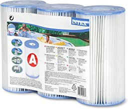 Intex FBA_29003E Type A or C Filter Cartridge for Pools, Three Pack, 3-Pack, Brown/A