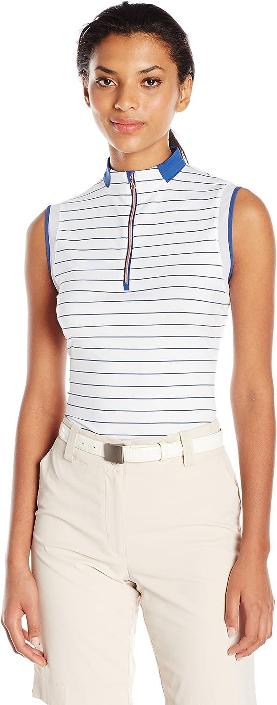 Cutter & Buck Womens Moisture Wicking, UPF 50+, Sleeveless Calipso Mock Active Shirt Shirt