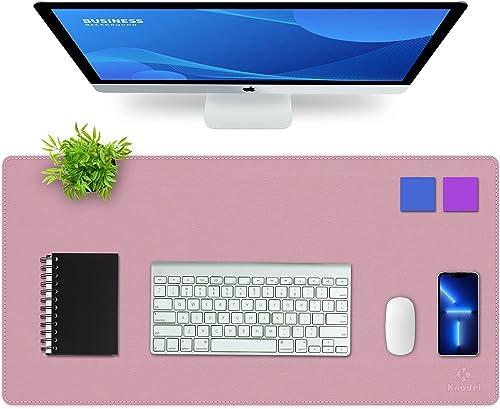 Upgrade Knodel Alfombrilla de escritorio, Estera del escritorio de oficina, Vade para escritorio hecho de cuero PU, a...