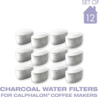 Charcoal Water Coffee Filter Cartridges, Replaces Calphalon Style Water Coffee Filters- Set of 12