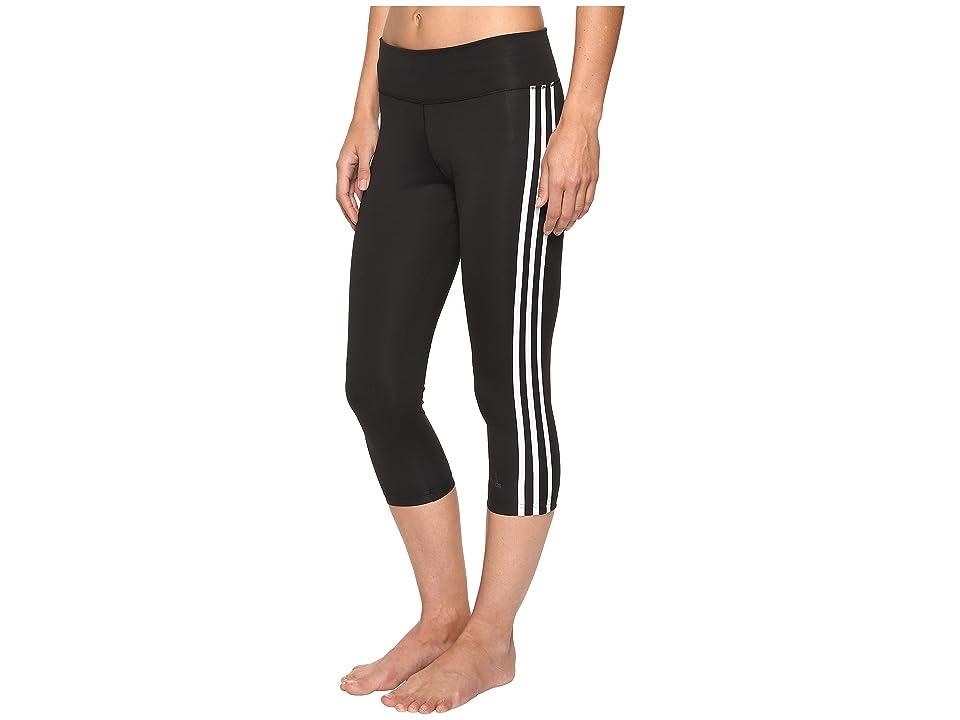 adidas Designed-2-Move 3-Stripes 3/4 Tights (Black/White) Women