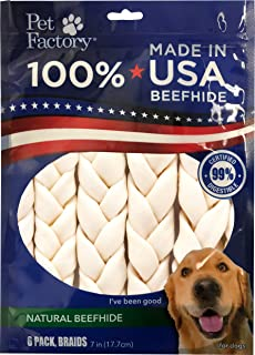 Pet Factory 78701 Beefhide | Dog Chews, 99% Digestive, Rawhides to Keep Dogs Busy While Enjoying, 100% Natural Flavored Br...