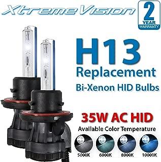 XtremeVision AC HID Xenon Replacement Bulbs - Bi-Xenon H13 10000K - Dark Blue (1 Pair) - 2 Year Warranty
