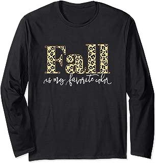 Fall Is My Favorite Color Leopard Print Women Modern Gift Long Sleeve T-Shirt