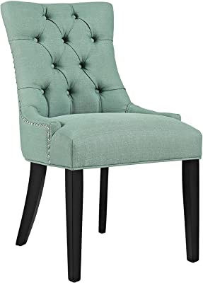 Modway Regent Modern Elegant Button Tufted Upholstered Fabric With Nailhead Trim Dining Side Chair Laguna Chairs