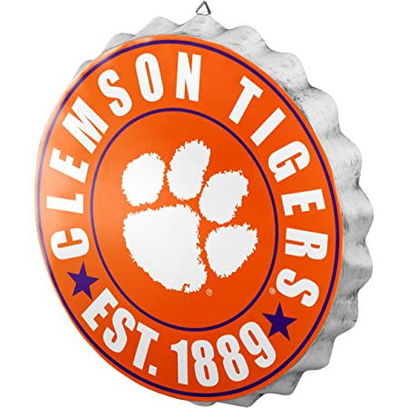 12 inch Team Color Fan Creations NCAA Clemson Tigers Unisex Clemson University Team Bus Sign