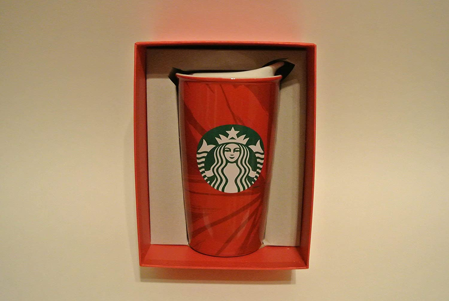 Starbucks Double Wall Traveler - Red Holiday Cup, 12 Fl Oz (11040996)