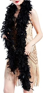 BABEYOND 1920s Flapper Chandelle Feather Boa 20 Gatsby Marabou Feather Boa