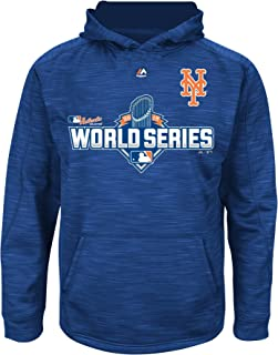 Majestic New York Mets MLB Youth 2015 World Series Streak Pullover Hooded Fleece (Youth Medium 10/12)