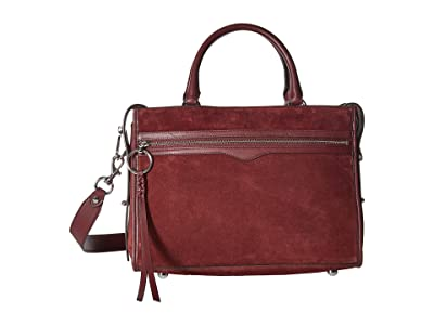 Rebecca Minkoff Bedford Zip Satchel (Bordeaux) Satchel Handbags
