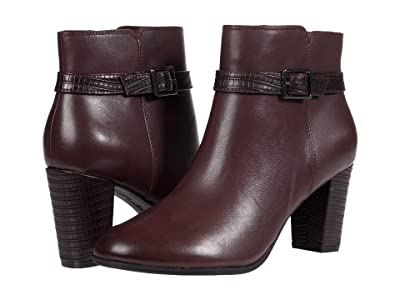 Clarks Alayna Juno (Burgundy Leather/Synthetic Combination) Women
