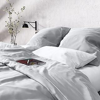 Wolkenfeld Mako Satin Bettwäsche 135x200 - 100% Baumwolle - Traumhaft weiches Bettwäsche-Set - 1x Deckenbezug 135x200 + 1x...