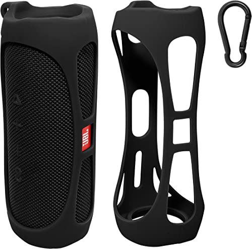 lowest getgear Silicone Cover Sleeve for JBL Waterproof Portable Bluetooth Speaker FLIP 5, Customized Design Skin Portable Protection Solution, sale Best Matching in Shape and Color outlet sale (Black) online sale