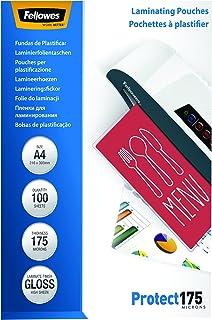 Fellowes 53087 - Pack de 100 fundas para plastificar, formato A4 (216 x 303 mm)
