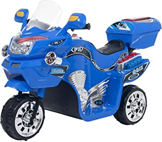 Ride on Toy, 3 Wheel Motorcycle Trike for Kids by Rockin' Rollers  – Battery Powered Ride on Toys for Boys and Girls, 2 - 5 Year Old - Blue FX