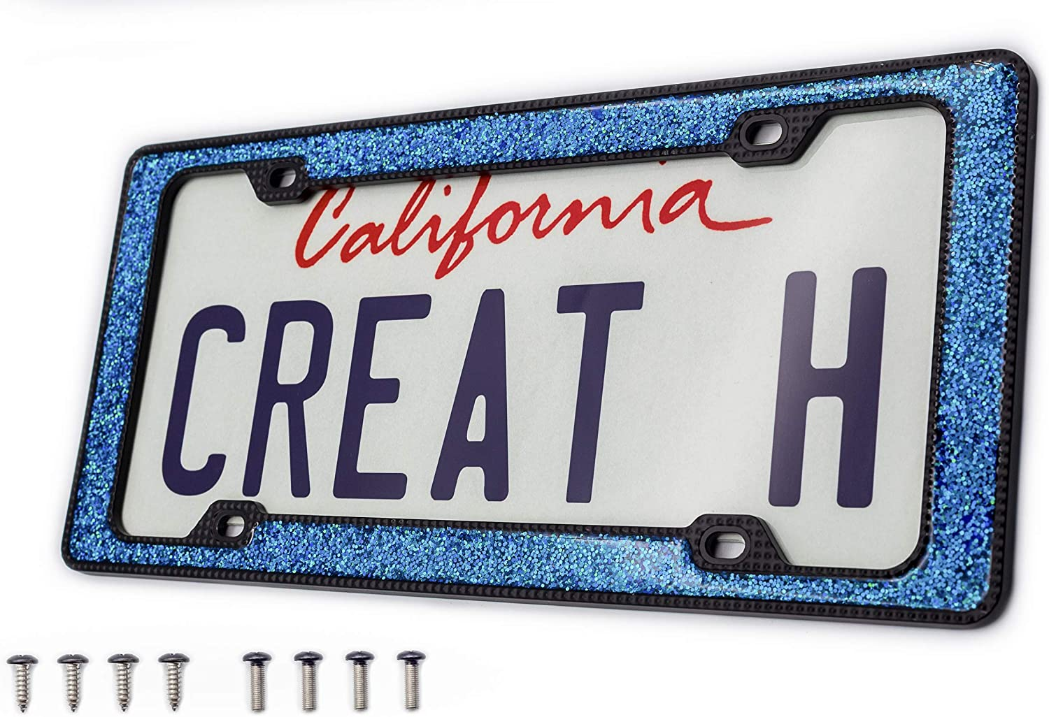 creathome 3D Shining and Neon Over item Seattle Mall handling ☆ License Zinc Plate Frame from Pure