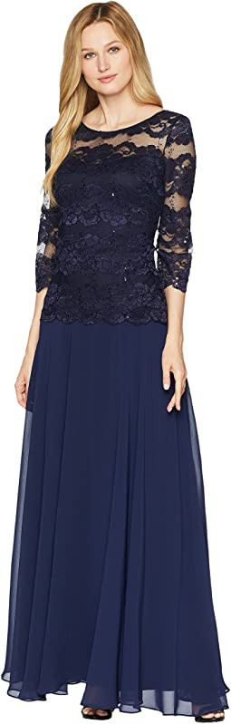 Popover Lace Gown