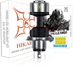 HIKARI Ultra H4 Motorcycle LED Headlight Bulb 9003 HB2 HS1 P43t, 14000lm 6500K Prime LED Hi/lo Beam Light Conversion Kit 2 Yr Warranty-1 Pack