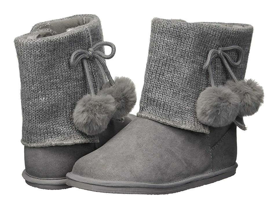 Baby Deer First Steps Sweater Boot with Pom Pom (Infant/Toddler) (Grey) Girls Shoes