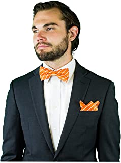 Bow Ties for Men - Pre-Tied Bow Tie with Matching Pocket Square - Scott Allan Collection