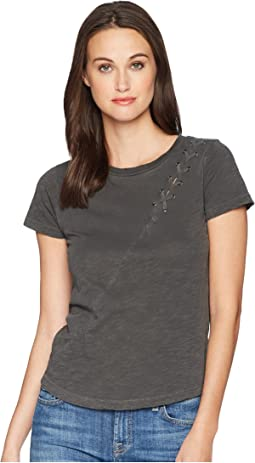 Lucky Brand Lace-Up Shoulder Tee
