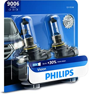 Philips 9006 Vision Upgrade Headlight Bulb with up to 30% More Vision, 2 Pack