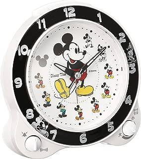 セイコー クロック 目覚まし時計 ミッキーマウス アナログ 切替式 アラーム ミッキー&フレンズ Disney Time ディズニータイム 白 パール FD461W SEIKO