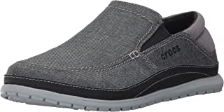 Crocs Mens Santa Cruz Playa Slip-On Casual Comfort Loafer, Great Walking Shoe