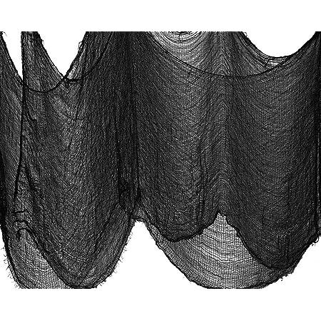 Black Halloween Freaky Fabric Decoration 30 X 60