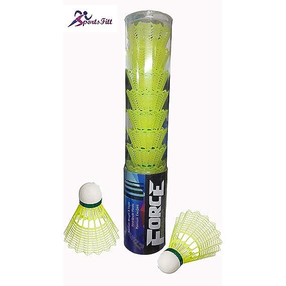 SportsFitt Tournament Grade Nylon Shuttlecock (Pack of 10)