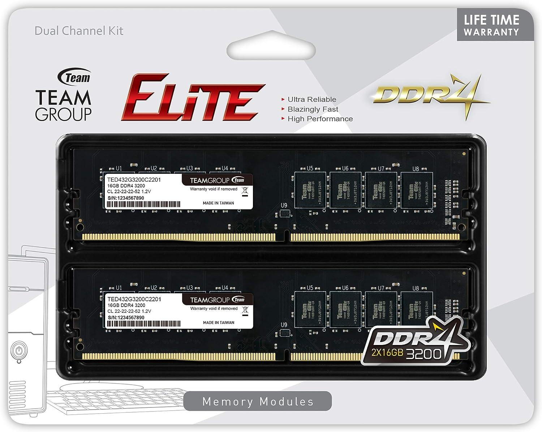 Team Group Elite Memory Module Ram Upgrade Ddr4 Dual Computers Accessories