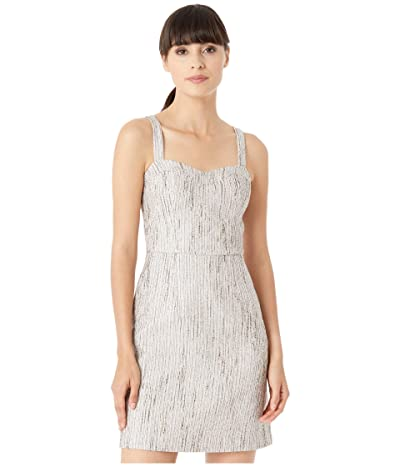 Ted Baker Rearay Seaming Detail Fitted Mini Dress (Silver) Women