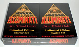 Illuminati New World Order Card Game Unlimited Edition Starter set Second Printing with colored Titles by Steve Jackson 19...