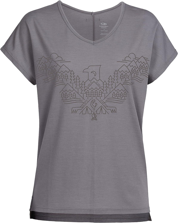 Icebreaker Merino Aria Short Sleeve VNeck Shirt, Zealand Merino Wool