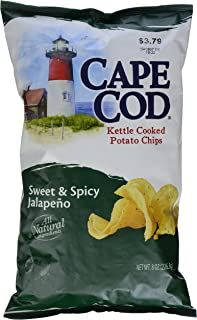 Cape Cod Potato Chips, Sweet & Spicy Jalapeno Kettle Cooked Chips, 8 Ounce