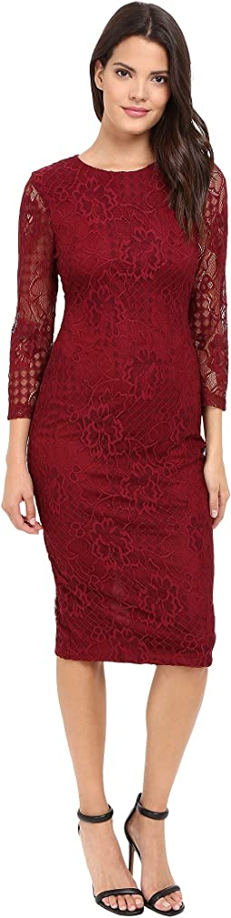 Jessica Simpson - Floral Lace Midi Dress