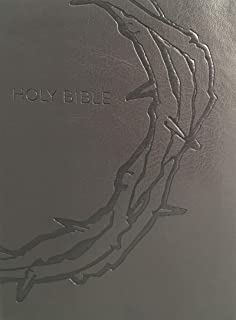 Holy Bible: KJV Sword Study, Red Letter, Margin Study Guide, Giant Print, Designer Charcoal Crown of Thorns