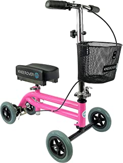 KneeRover Kids and Small Adult Knee Walker Child Knee Scooter Pediatric Crutches Alternative in Pink