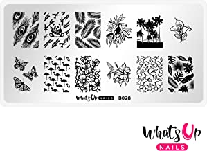 Whats Up Nails - B028 Tropical Escape Stamping Plate for Nail Art Design