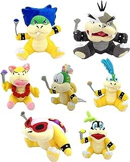Super Mario Bros Koopalings Larry Iggy Lemmy Roy Ludwig Wendy Morton Koopa Soft Plush Toy 7.5