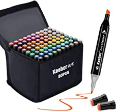 Keebor Advanced 80+1 Colors Dual Tip Alcohol Art Markers, Plus 1 Blender Marker with..