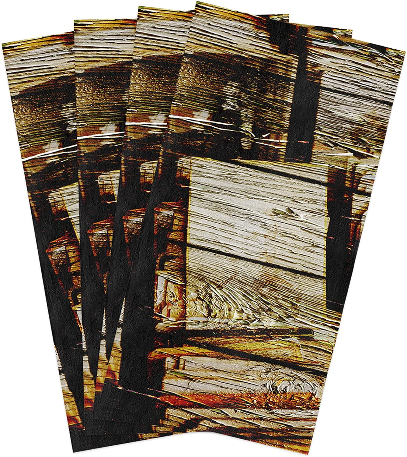 Kitchen Dish Towels Retro Wood Absorbent and Sales of SALE items from new works Photo Soft Cleaning Max 81% OFF