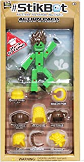 StikBot Wave 2 Action Pack Hair Styling Sold Green