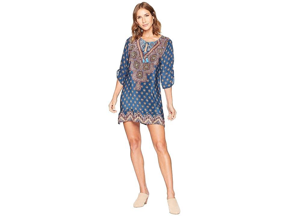 Tolani Sanaya Tunic Dress (Denim) Women