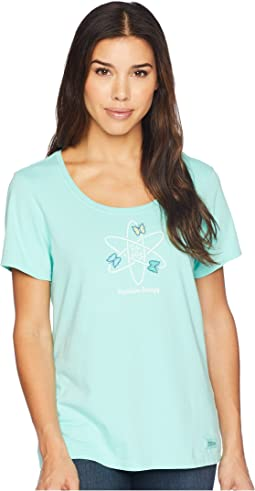 Positive Energy Butterflies Crusher Scoop Neck Tee