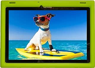 Bobj Rugged Case for Lenovo 10 TB-X103F and Tab 2 A10-30, Tab2 X30F - BobjGear Custom Fit - Patented Venting - Sound Amplification - BobjBounces Kid Friendly (Gotcha Green)