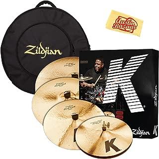 Zildjian KCD900 K Custom Dark Cymbal Set Bundle with Gig Bag and Austin Bazaar Polishing Cloth